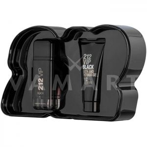Carolina Herrera 212 VIP Black Eau de Parfum 100ml + Shower gel 100 ml мъжки комплект