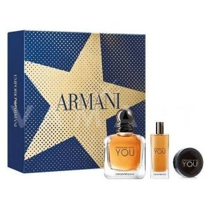Armani Stronger With You Eau de Toilette 100ml + Eau de Toilette 15ml + Hair Shaping Balm 50ml мъжки комплект