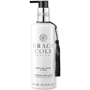 Grace Cole England White Nectarine & Pear Softening Hand Lotion 300ml Омекотяващ лосион за ръце